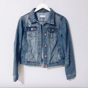 Distressed Denim Jacket by Ci Sono